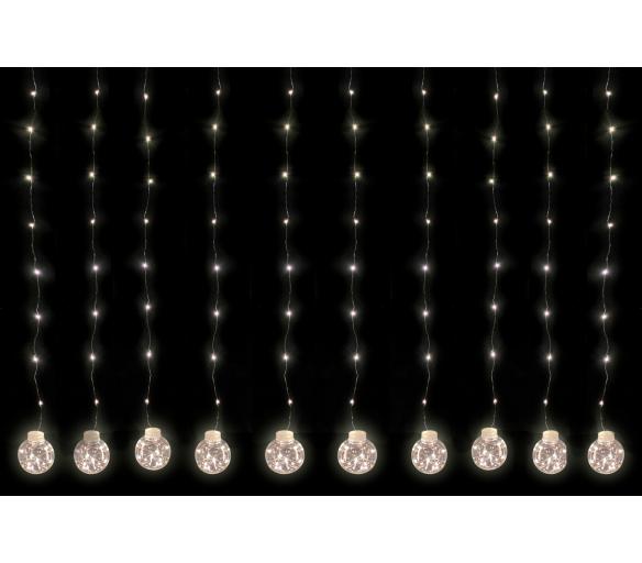 Linder Exclusiv Světelný závěs koule 200 LED Teplá bílá