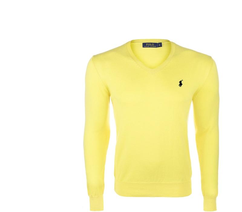 Ralph Lauren Sveter V-NECK SWEATER Lemon Yellow