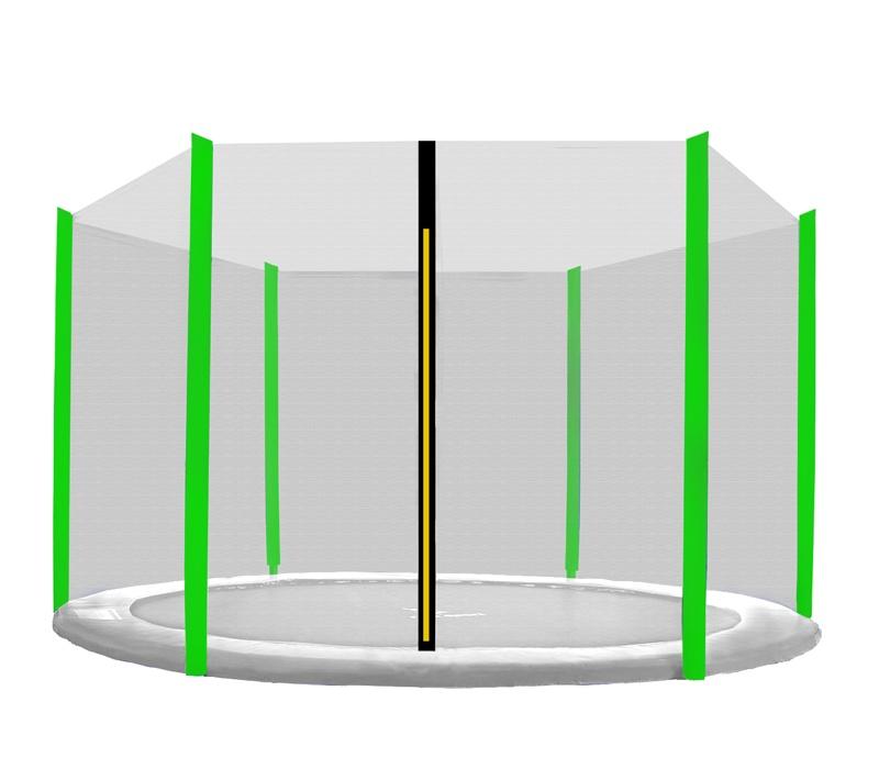 Aga Ochranná síť 400 cm na 6 tyčí Black net / Light Green