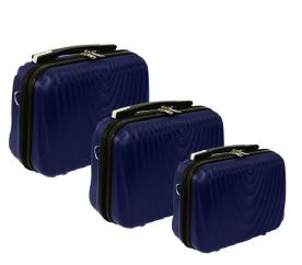 RGL Zestaw kuferków kosmetycznych HC663 XXL,XL,L Dark Blue