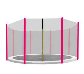 Aga védőháló 366 cm trambulinra 8 rudas Black net / Pink