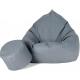 aGa Pufa sofa XXXL + podnóżek (Ciemnoszary)