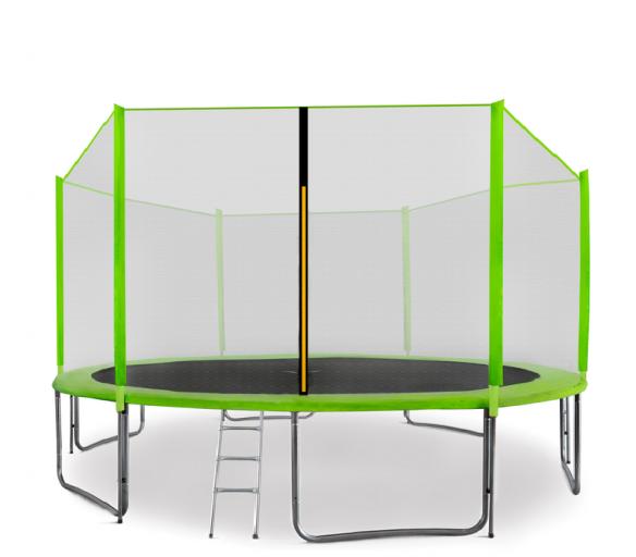 Aga SPORT PRO Trampolína 430 cm Light Green + ochranná sieť + schodíky + vrecko na obuv