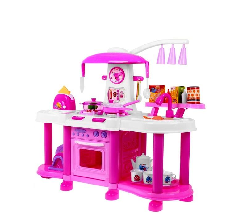 Aga4Kids Plastová kuchynka FUNNY ZB-6006A Pink