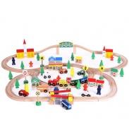 Wooden Toys Fa vonatpálya