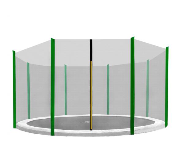 Aga Ochranná síť 366 cm na 8 tyčí Black net / Dark Green