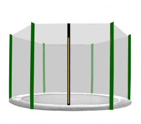 Aga Ochranná síť 150 cm na 6 tyčí Black net/ Dark Green