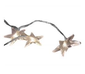 Linder Exclusiv LAMPKI Świąteczny łańcuch 48 LED Gwiazdki ciepła biel
