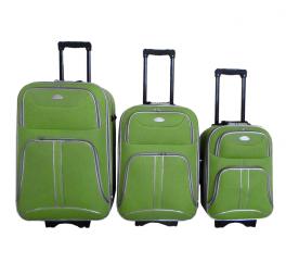 Linder Exclusiv Zestaw walizek COMFORT COLORS MC3049 S,M,L Green