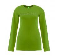 Benetton női Hosszú ujjú póló felirattal United Colors of Benetton Zöld