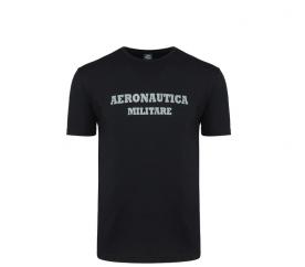 Aeronautica Militare Tričko ROUND-NECK PRINT 3-Pack X1400 Black