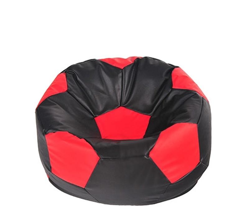Aga Sedací vak BALL Farba: Čierna - Červená