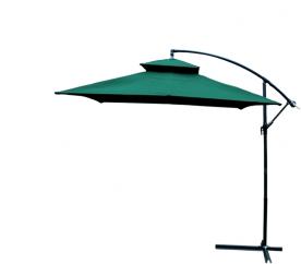 Záhradný slnečník RCT GARDEN 250x250 cm HD-018 Dark Green