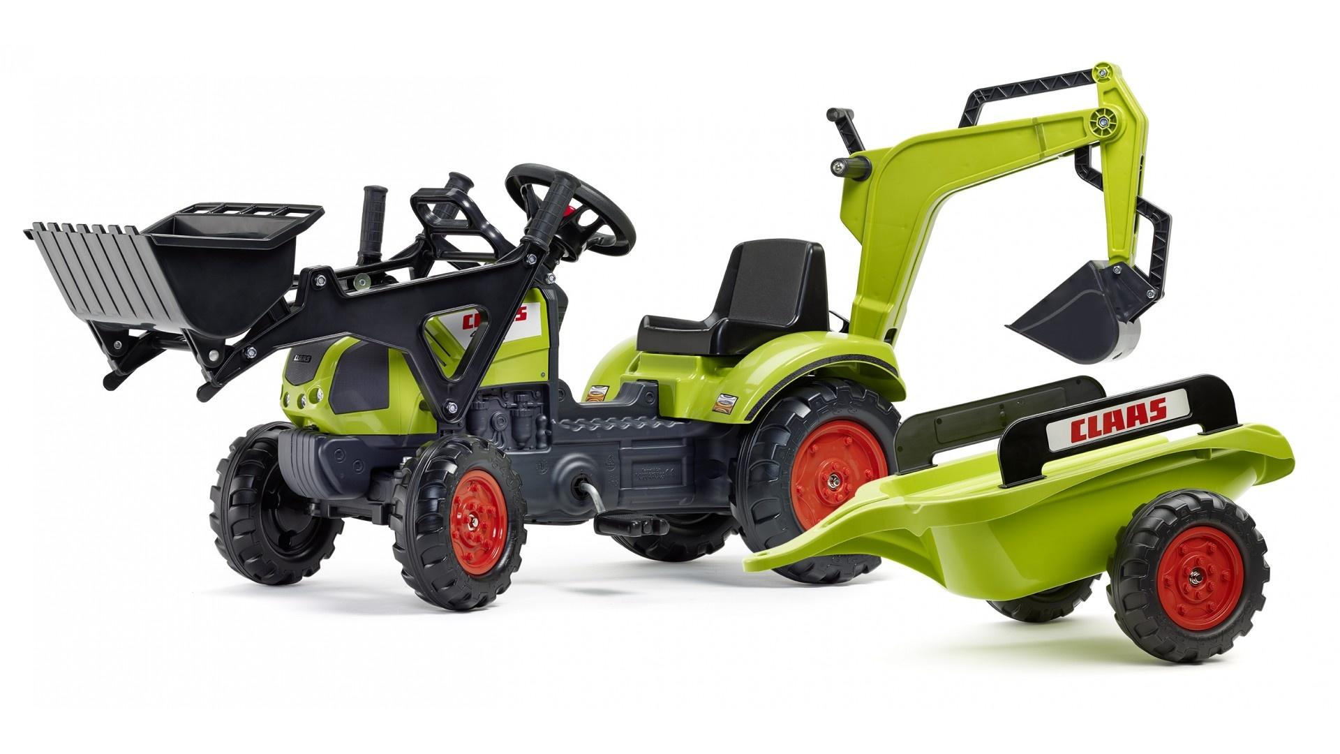 Falk Šlapací traktor CLAAS ARION 410 2040N s vlečkou