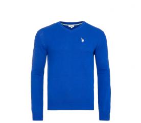 U.S. Polo ASSN. Sweter V-NECK Royal