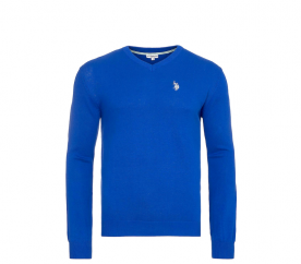 U.S. Polo ASSN. Svetr V-Neck Royal