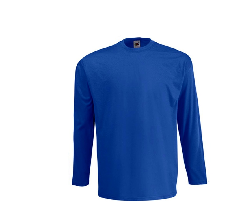 Fruit Of The Loom Tričko VALUEWEIGHT Longsleeve Royal Blue