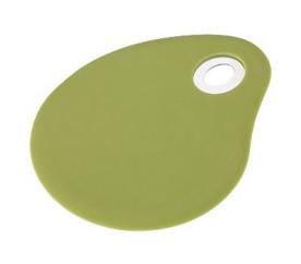 Stěrka silikonová 3 x 10 cm FLEXIKITCHEN, barva zelená - BERGNER