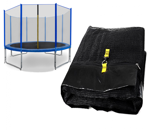 Spartan  Siatka do trampoliny 426cm 14ft zewnętrzna na 8 słupków Black net / Blue