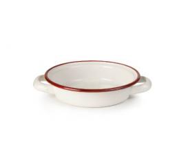 Smaltovaný kastrůlek bílo červený 14cm - Ibili - Ibili