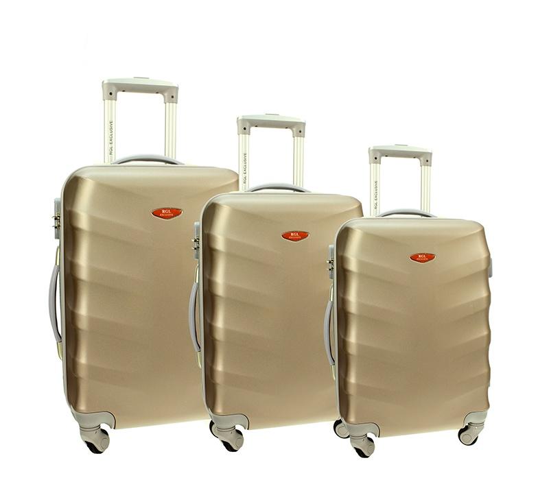 RGL Cestovní kufry HC6881 XXL,XL,L Barva: Champagne