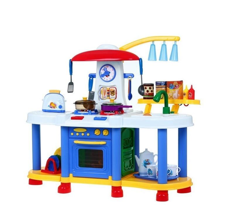 Aga4Kids Plastová kuchyňka FUNNY ZB-6006A Blue