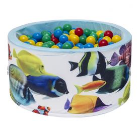 Aga Suchý bazén 90x40 cm s míčky 249