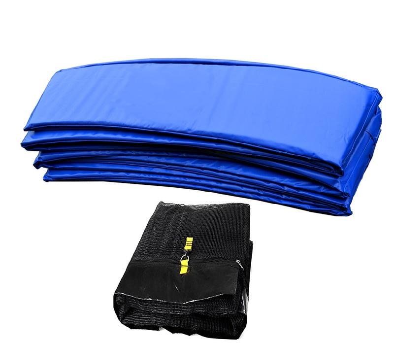 Aga Chránič pružin 150 cm Blue + Ochranná sieť 150 cm 6 tyčí