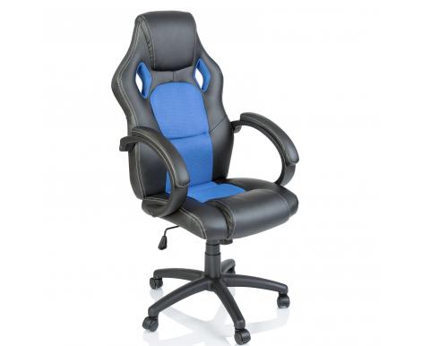 Tresko Kancelářské křeslo Racing Black - Light blue