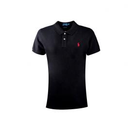Ralph Lauren Koszulka Polo SKINNY-FIT Black Small Pony Red