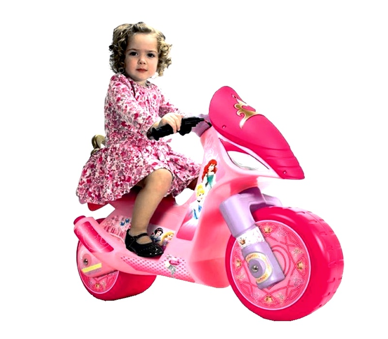 Injusa Elektrická motorka SCOOTER DISNEY PRINCESS 6V