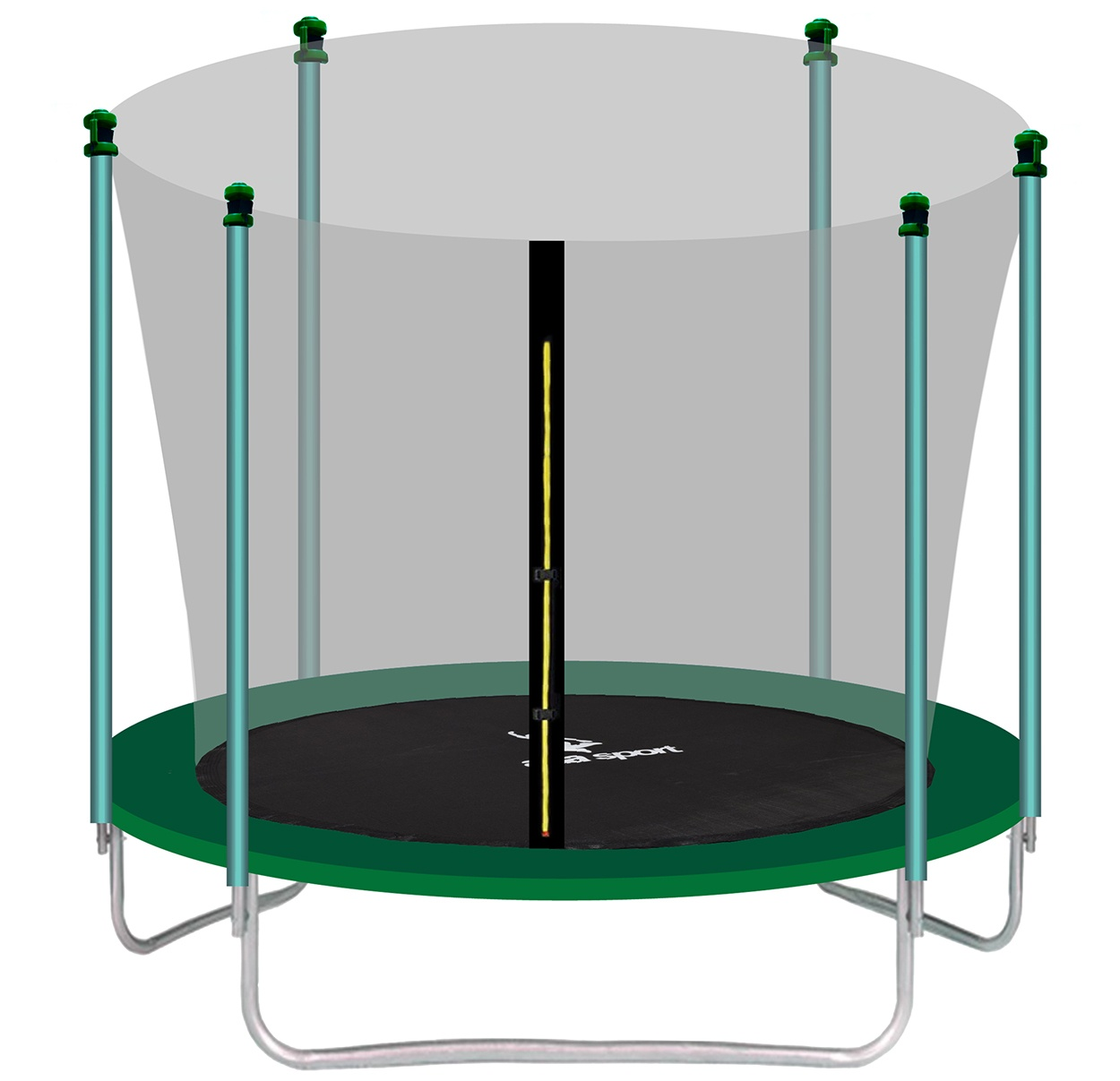aga sport fit trampol na 250 cm dark green vn torn ochrann sie svet trampol n. Black Bedroom Furniture Sets. Home Design Ideas