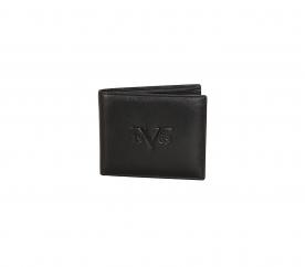 Versace Prestiżowy skórzany portfel marki 19V69 ITALIA - C186 Black