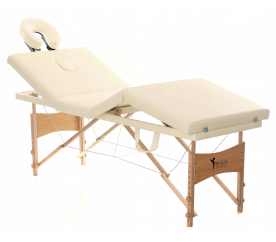 Aga Dřevěné masážní lehátko WT401 Beige