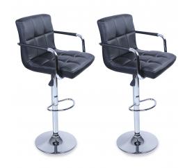 Tresko 2x Barová židle BH012 Black