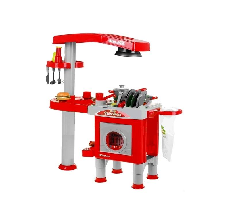 Aga4Kids Plastová kuchyňka KITCHEN 008-83 Red