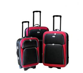 Linder Exclusiv Zestaw walizek EVA 2 MC3055 S,M,L Red