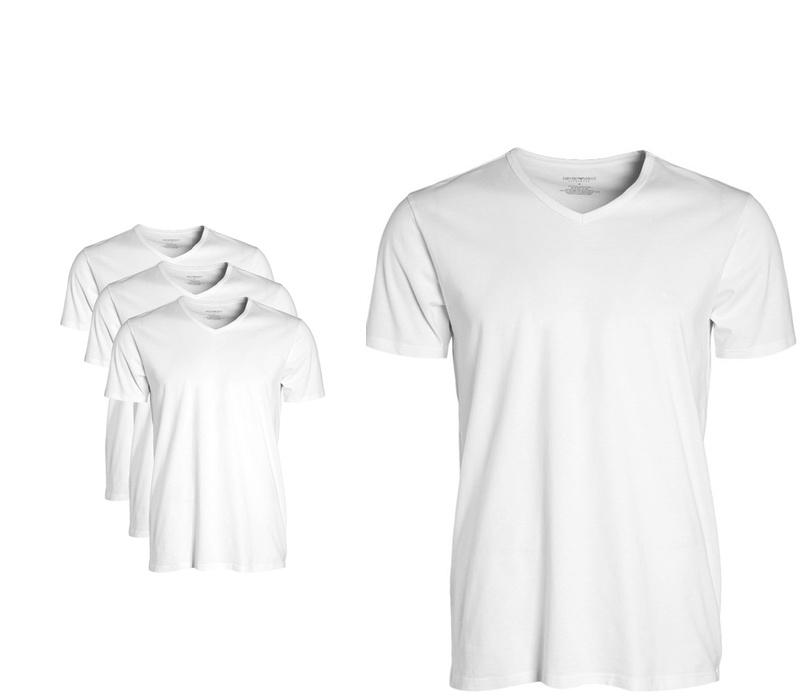 EMPORIO ARMANI Tričko 3-PACK White
