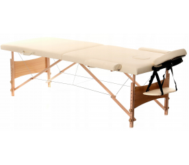 Aga Dřevěné masážní lehátko WT201 Beige