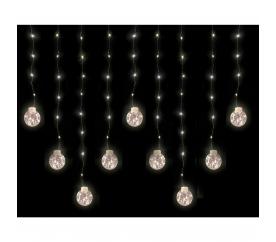 Linder Exclusiv Svetelný záves gule 160 LED Teplá biela