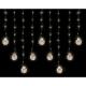 Linder Exclusiv Světelný závěs koule 160 LED Teplá bílá