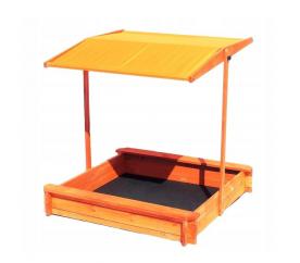 Aga4Kids Dřevěné pískoviště se stříškou 120 cm Orange