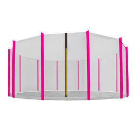 Aga Ochranná síť 488 cm na 12 tyčí Black net / Pink