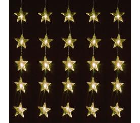 Linder Exclusiv Vánoční světelný závěs Hvězdy 40 LED Teplá bílá