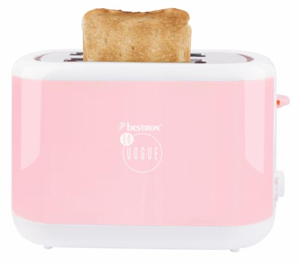 Stylový toaster z kolekce En Vogue - Pastelově růžová - Bestron