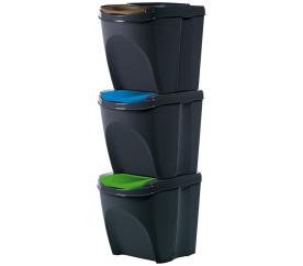 Aga Odpadkové koše SORTIBOX 3x20l Černé