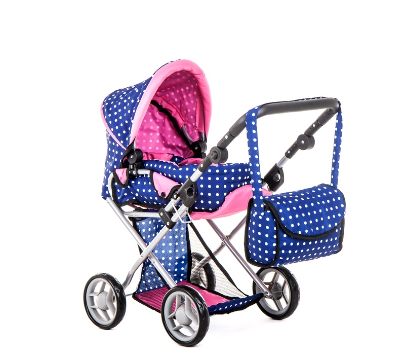 Doris Kočárek pro panenky 9346/L Blue Pink
