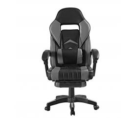 Aga Kancelárske kreslo MR2040 Čierno - Sivá s podnožkou