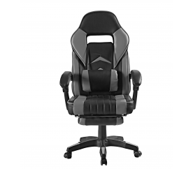 Aga Kancelářská židle Černo - Šedá s opěrkou pro nohy