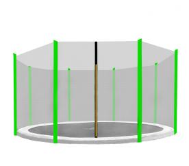 Aga védőháló 366 cm trambulinhoz 8 rudas Black net / Light green